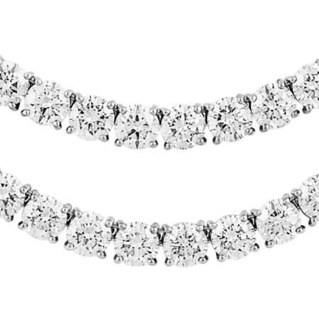 Round Diamond Riviera Necklace