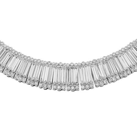 Emerald Cut Diamond Riviera Necklace