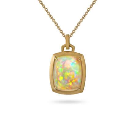 Modern Opal Pendant