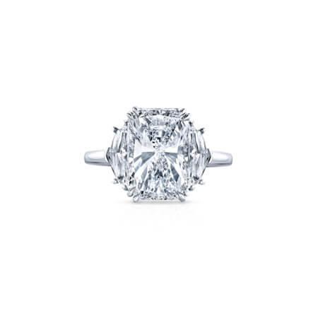 Elongated Radiant Diamond Ring