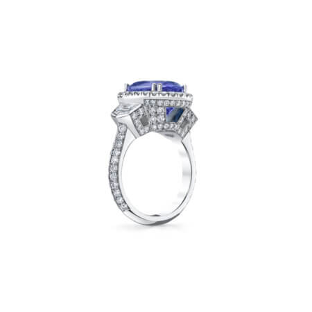 Lilac Spinel Diamond Ring