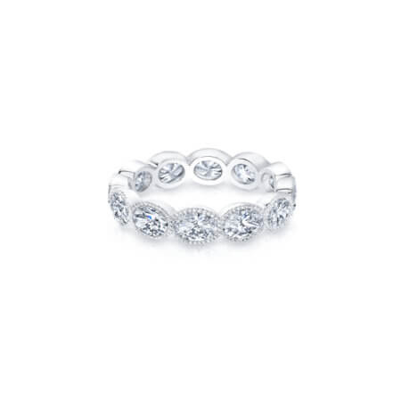 Oval Diamond Eternity Band Ring