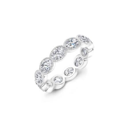 Round Brilliant Diamond Eternity Band Ring