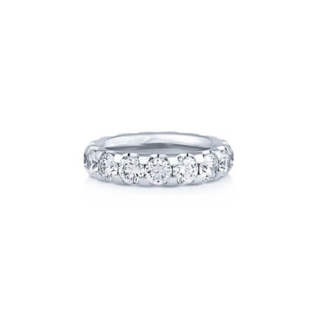 Round Brilliant Diamond Eternity Band Ring