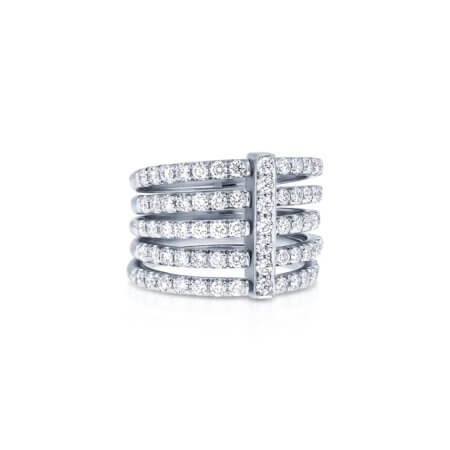 Stacked Diamond Pave Band