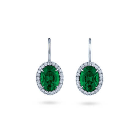 Oval Emerald Earrings