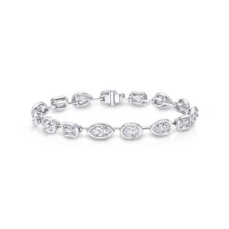 Fancy Shaped Diamond Tennis Bracelet