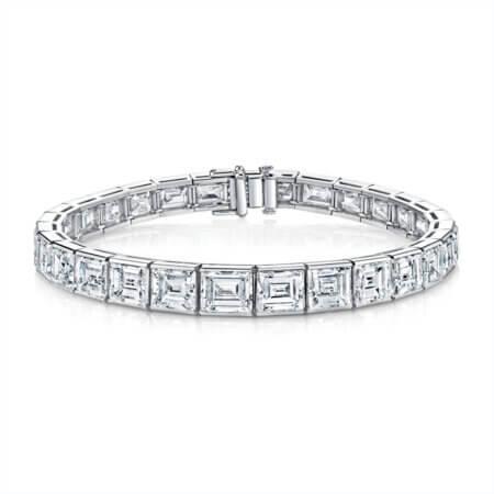 Carre Cut Diamond Tennis Bracelet