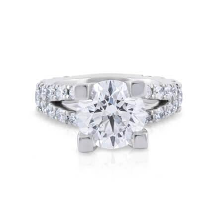 Custom RBC Diamond Engagement Ring