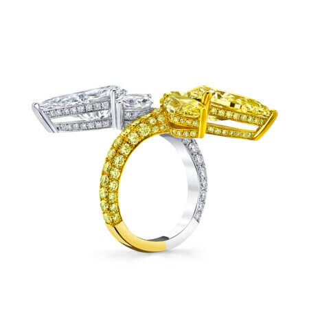 Unique Fancy Intense Yellow Diamond Ring