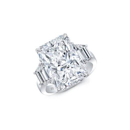 Three-Stone Radiant-Cut Diamond Engagement Ring