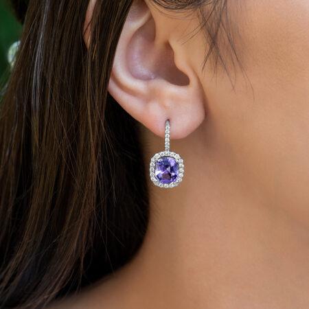Lavender Spinel Earrings
