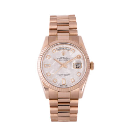 Used Rose Gold Rolex Day-Date 36 with Meteorite Dial