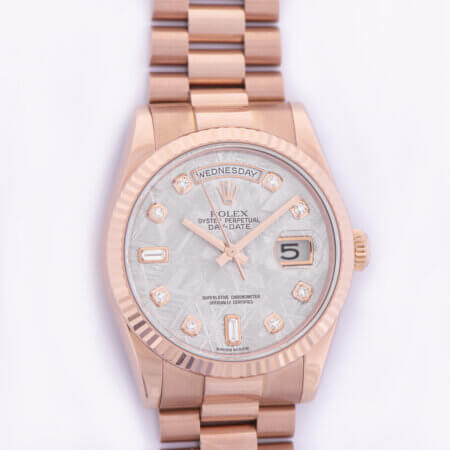 Rolex Day-Date with meteorite dial