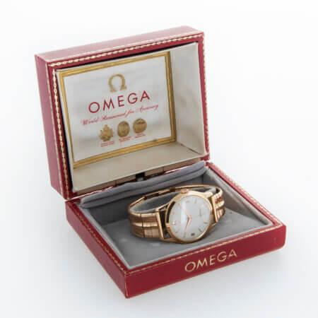 1944 Omega Tresor Dress Watch (2619) Box
