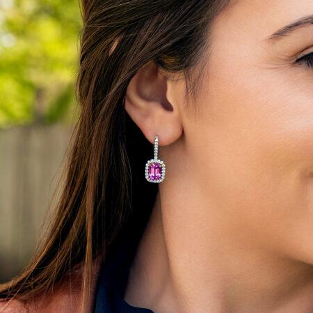 Pink Spinel Earrings