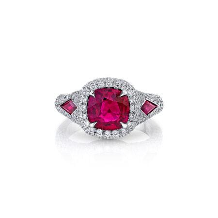 Cushion-Cut Ruby Ring