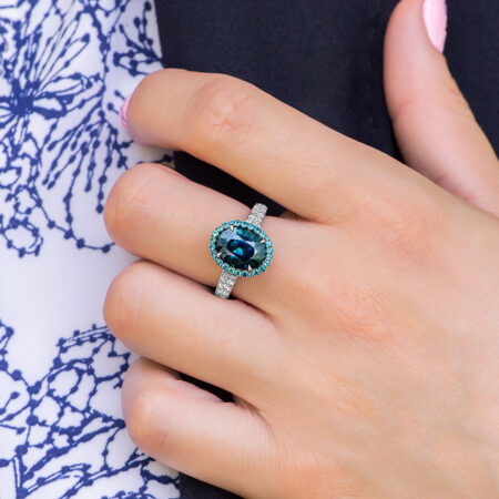Sapphire and Alexandrite Ring