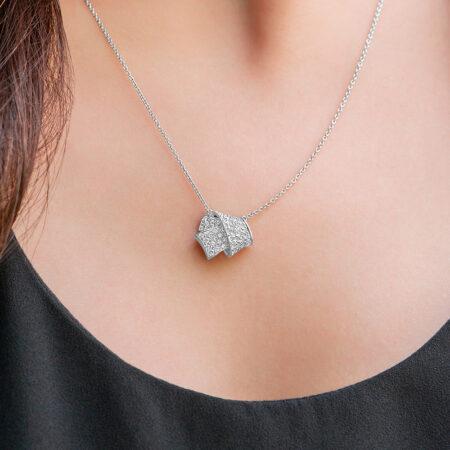 Pave Diamond Knot Pendant