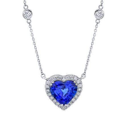 Heart-Shaped Sapphire Necklace