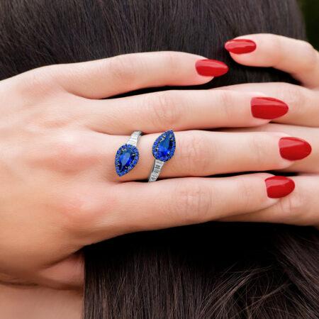 Avant-Garde Sapphire Ring