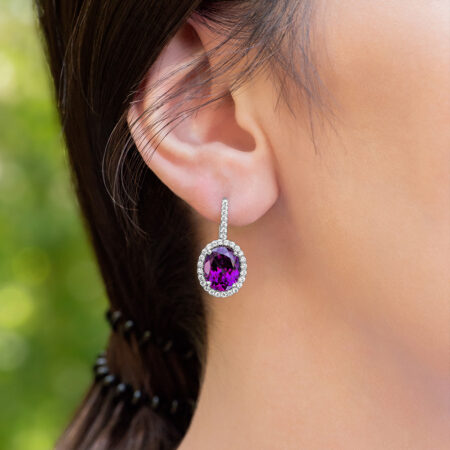 Grape Garnet Earrings