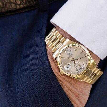 Rolex Day-Date Yellow Gold Wrist Shot