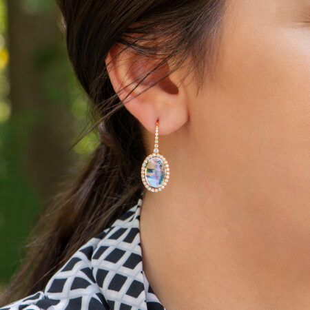 Moonstone Dangle Earrings