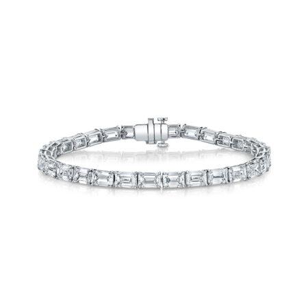 Emerald-Cut Diamond Tennis Bracelet