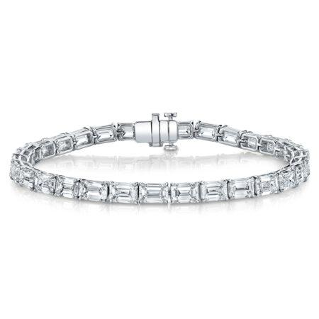 Emerald-Cut Diamond Bracelet