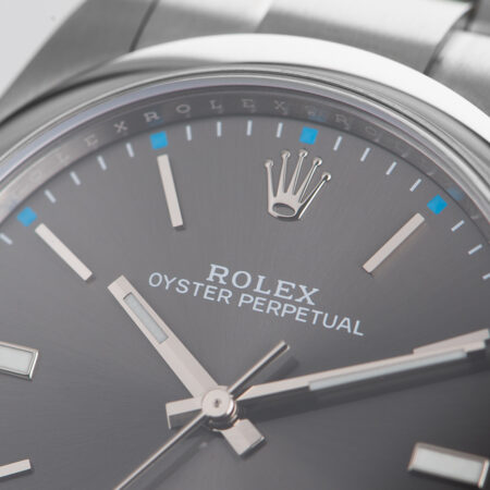 Rolex Oyster Perpetual 39 Blue Markers