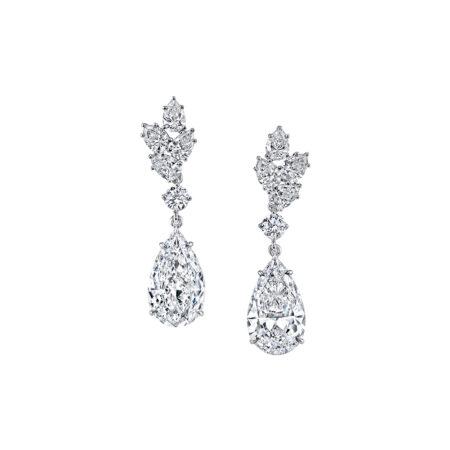 Pear-Shaped Diamond Earrings